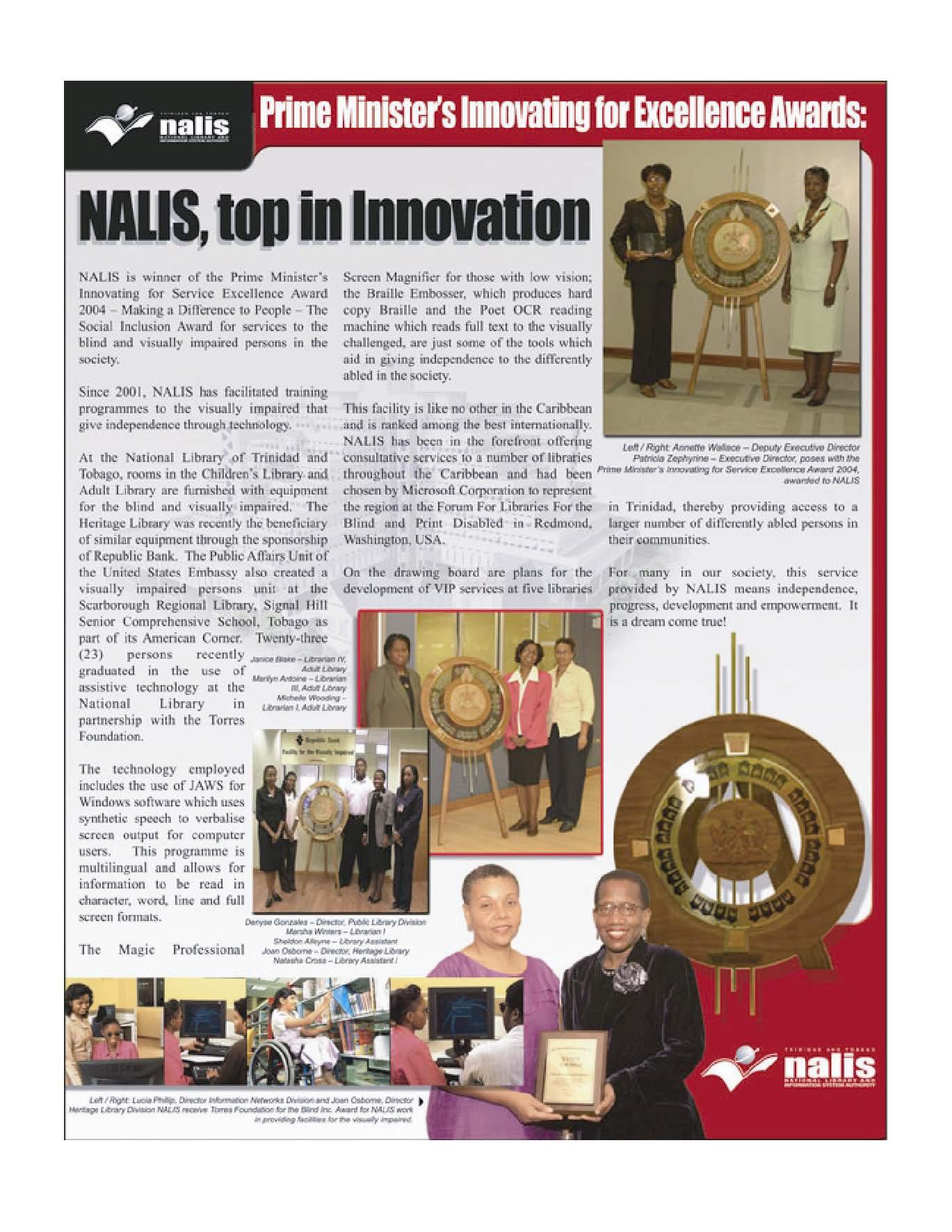 NALIS Prime Minister Award